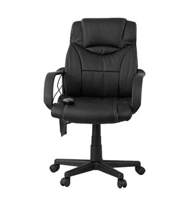 High Back Massaging Leather Executive Office Chair by Flash Furniture Image