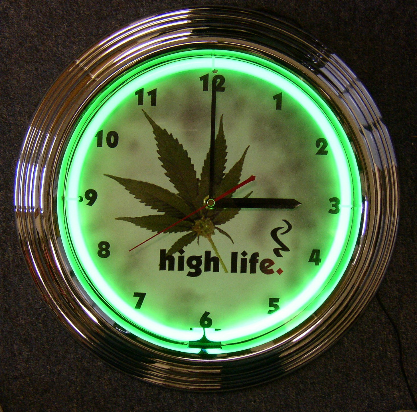 High Life Neon Clock by Neonetics in Wall Clocks