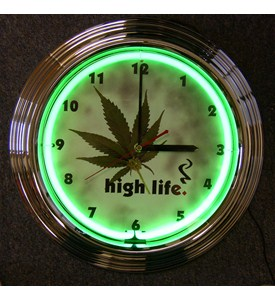 High Life Neon Clock by Neonetics Image