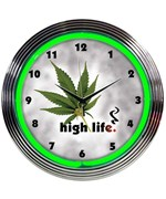 High Life Neon Clock by Neonetics