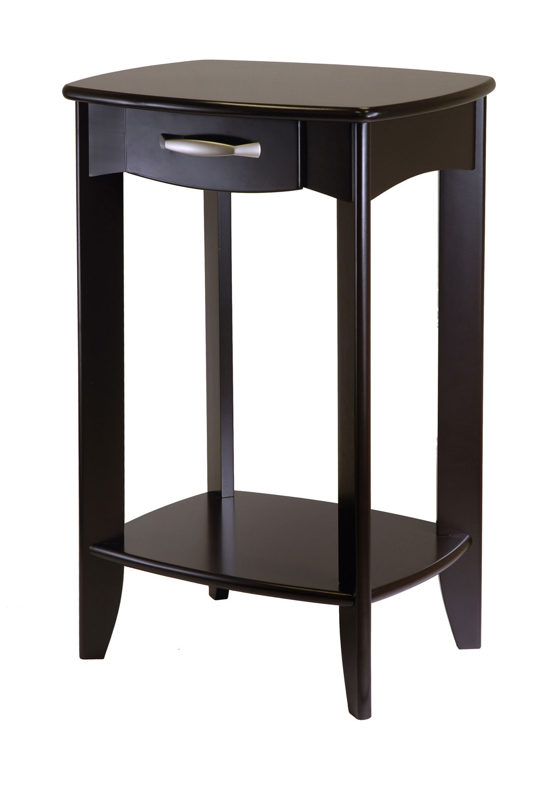 Danica side table espresso wood in side tables for High side table