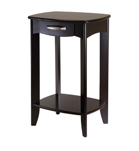 Danica Side Table - Espresso Wood Image
