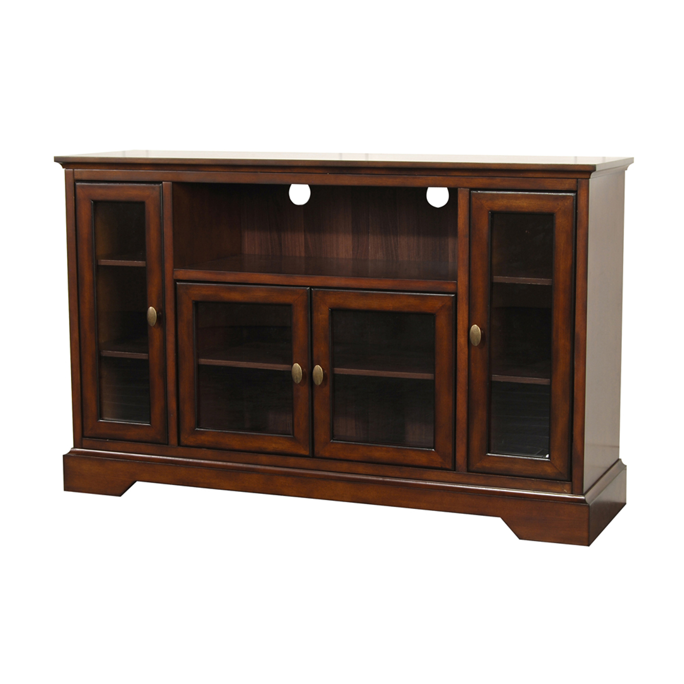 Highboy Style Wood Tv Stand 52 In By Walker Edison In Tv