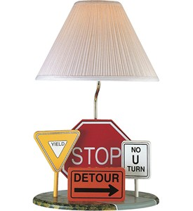 Highway Signs Table Lamp Image