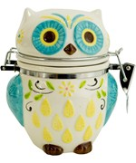 Hinged Jar - Floral Owl