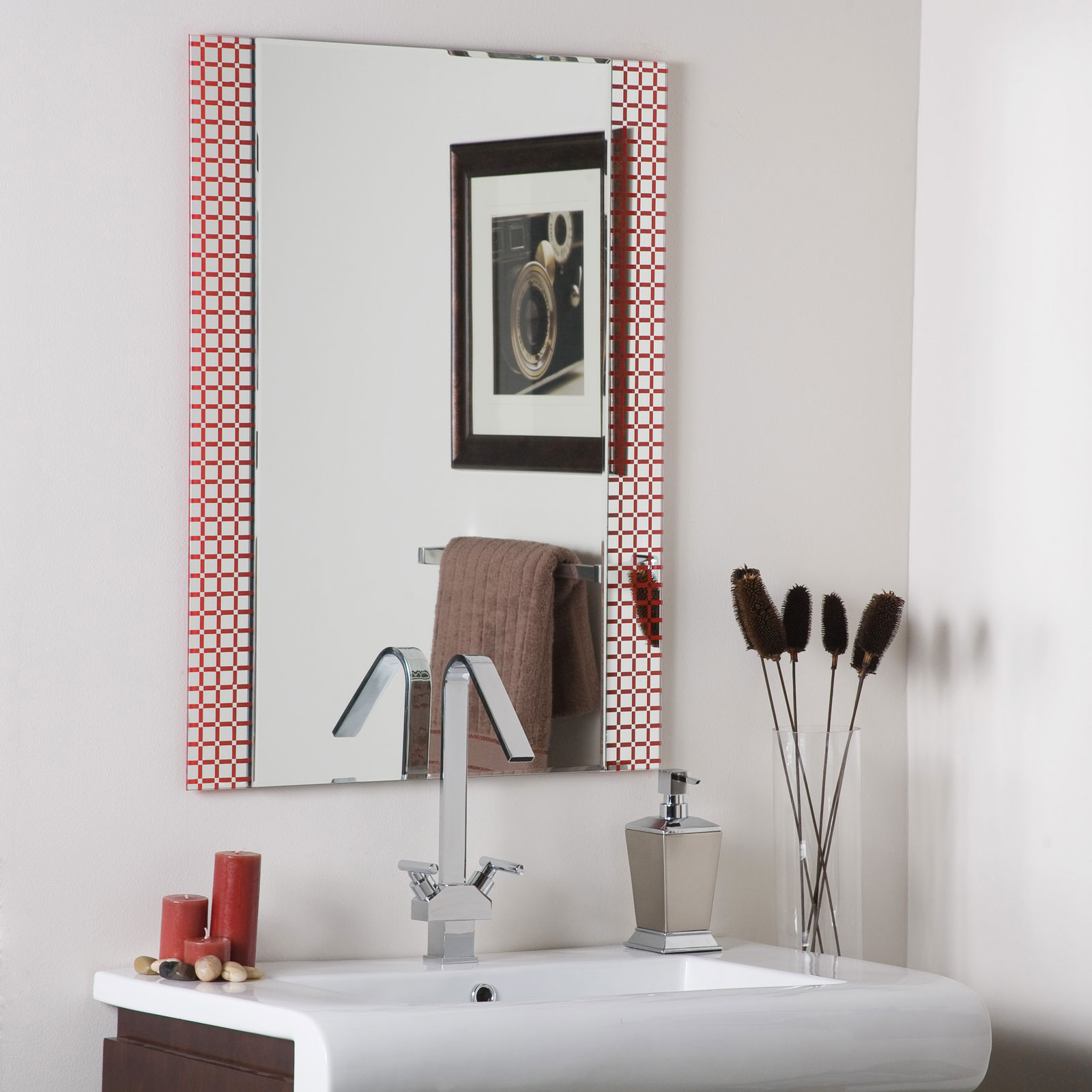Hip to be square frameless bathroom mirror by decor for Hip home decor