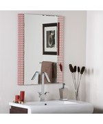 Hip to Be Square Frameless Bathroom Mirror by Decor Wonderland