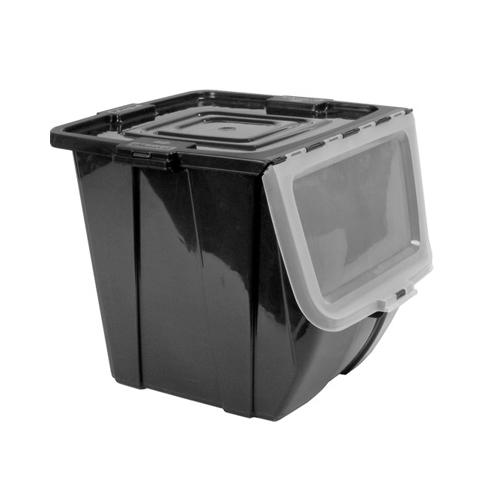 Buddeez Stacking Storage Bin Large In Plastic Storage Bins