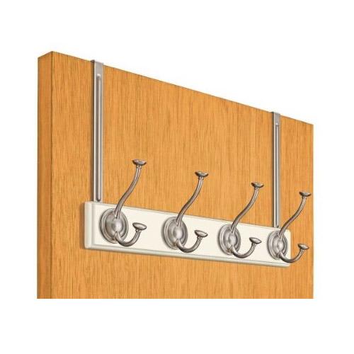 Meridian over the door coat rack white in over the door for 12 hook over the door coat rack
