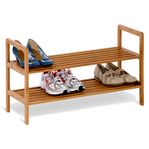 bamboo shoe rack 2 tier in shoe racks