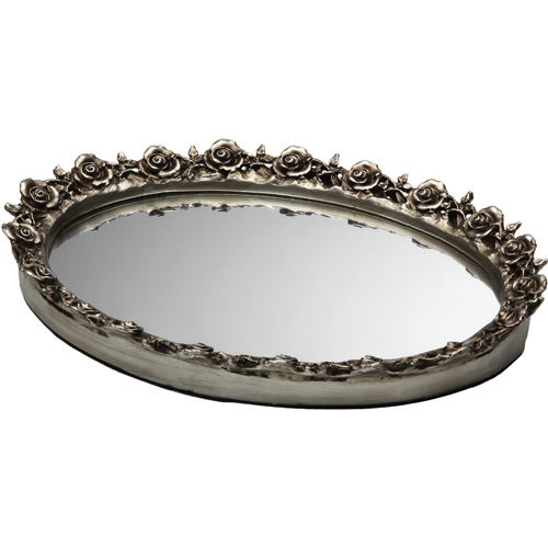 Decorative vanity mirror tray in vanity and sink accessories for Decorative bathroom tray