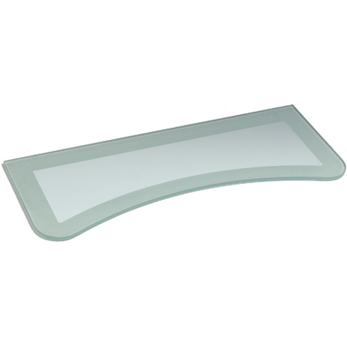 Two Tone Floating Glass Wall Shelf In Wall Mounted Shelves