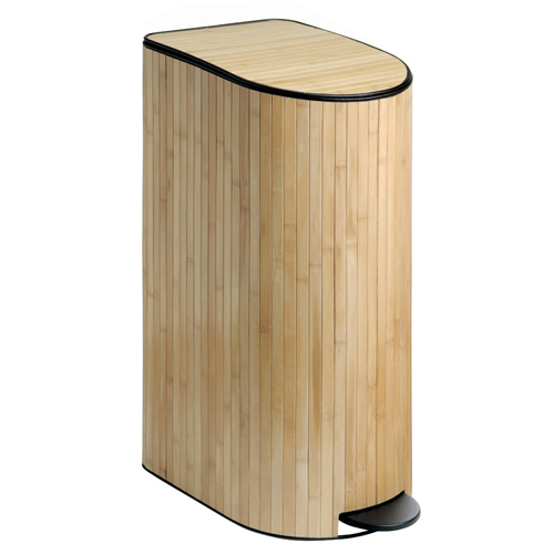 Interdesign Trash Can Bamboo In Kitchen Trash Cans