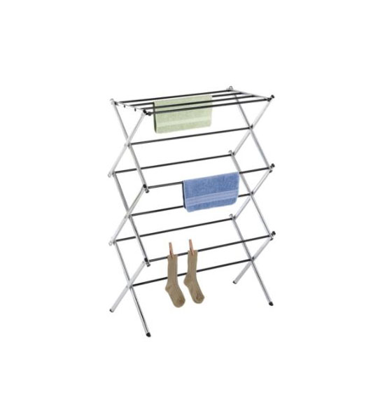 Chrome Folding Drying Rack in Laundry Drying Racks