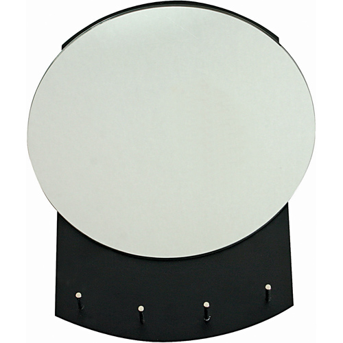Round Wall Mirror with Hooks in Entryway Furniture & Storage