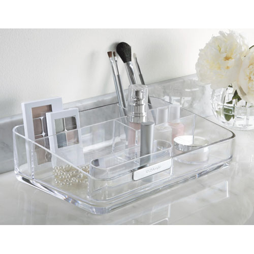 Acrylic bathroom and cosmetic organizer in cosmetic organizers for Bathroom organizers