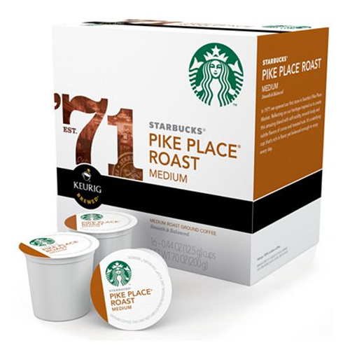 ... Cups Coffee and Tea > Starbucks K-Cups - Pike Place Roast (Set of 16
