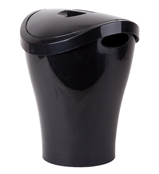 Small Swing Top Trash Can Black In Small Trash Cans