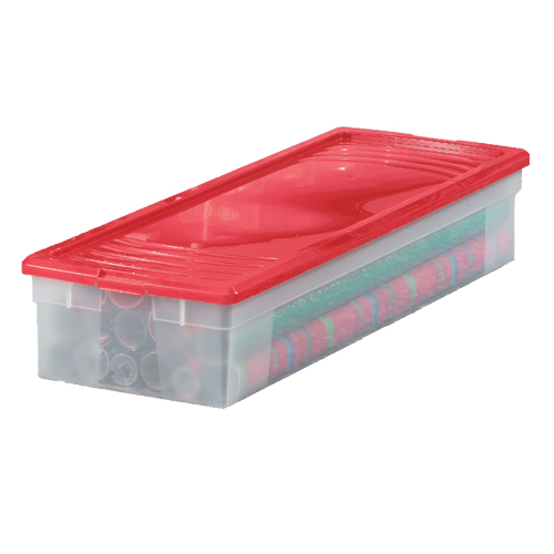 Plastic Wrapping Paper Storage Box In Gift Wrap Organizers