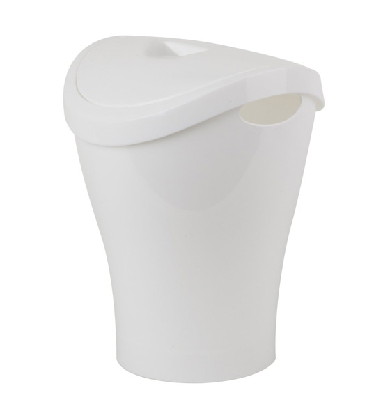 umbra small swing top trash can white in small trash cans