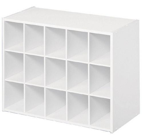 fifteen pair shoe organizer white in shoe cubbies
