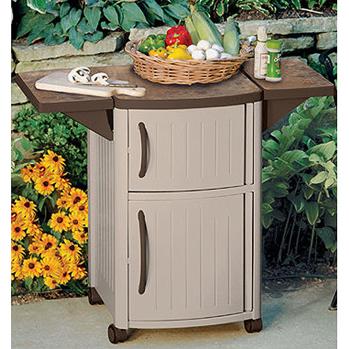 Mobile Serving Station Patio Cabinet In Patio Side Tables