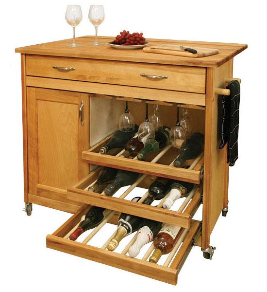 wine rack kitchen island in kitchen island carts