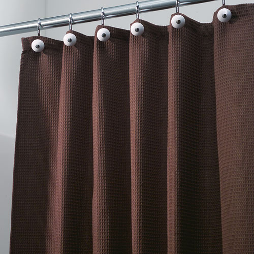York Fabric Shower Curtain Chocolate Brown In Shower