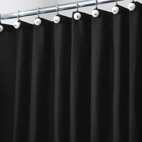 shower curtains and rings york fabric shower curtain black
