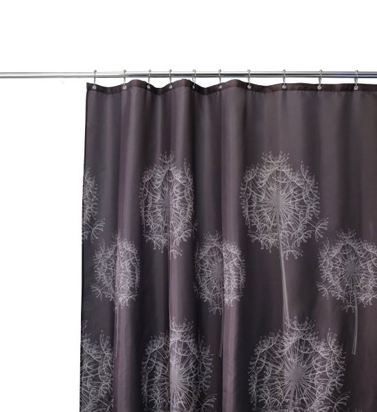 dandelion shower curtain in shower curtains and rings
