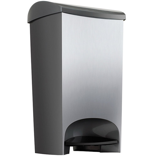 Umbra Plastic Step Trash Can Nickel In Kitchen Trash Cans
