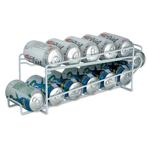 White Beverage Can Rack 12 Cans In Can Storage