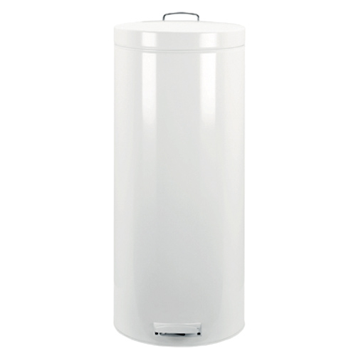 Brabantia pedal bin 30l white in stainless steel trash cans - White kitchen trash cans ...