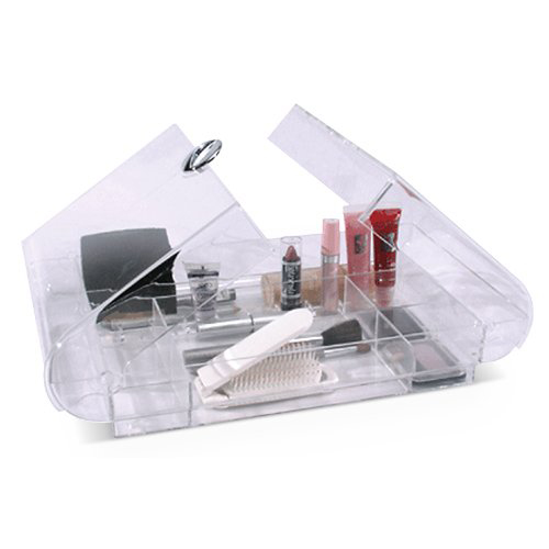 Large Folding Acrylic Cosmetic Organizer In Cosmetic