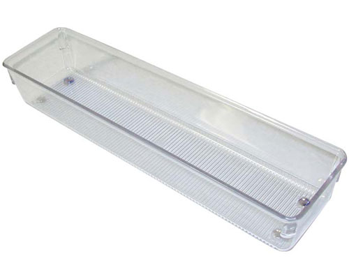 Narrow Clear Plastic Drawer Organizer Large In Drawer Bins