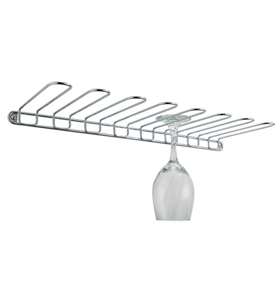 Wall Mount Wine Glass Rack In Stemware Storage