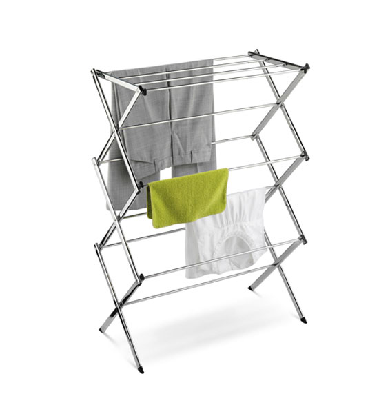 Foldable Drying Rack Chrome In Laundry Drying Racks