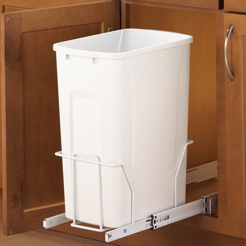Pull out trash can cabinet