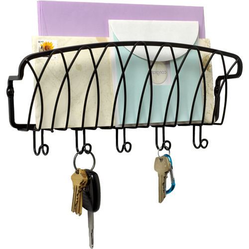 Mounted Mail Organizer and Key Holder in Mail Organizers