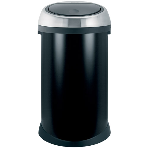 Brabantia Touch Bin 50l Smudge Free Matt Black In Stainless Steel Trash Cans