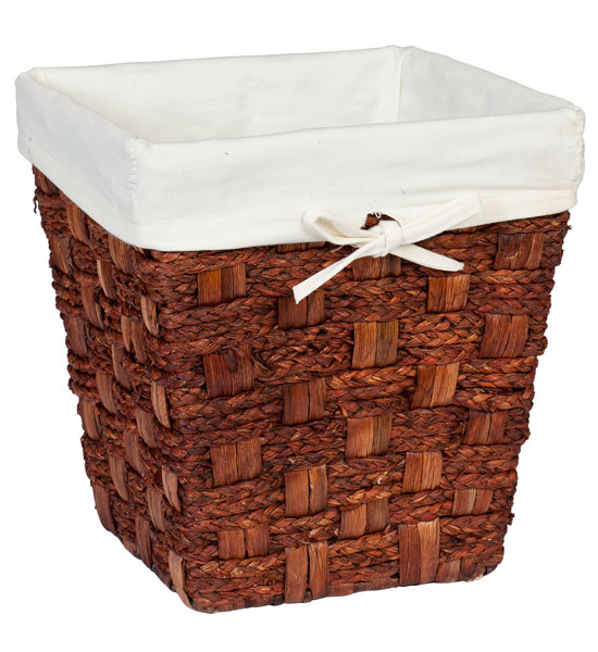 Small wicker waste basket espresso in small trash cans - Wicker trash basket ...