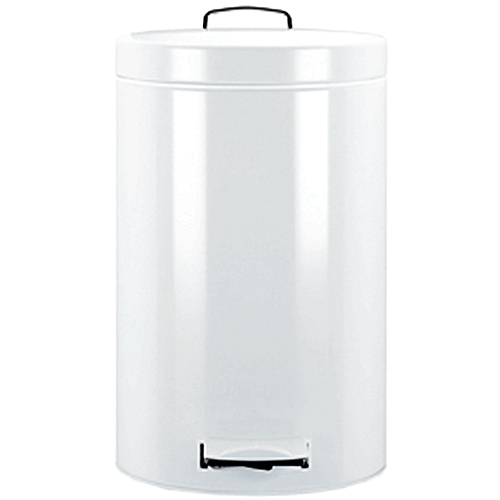 Brabantia pedal bin 20l white in stainless steel trash cans - White kitchen trash cans ...