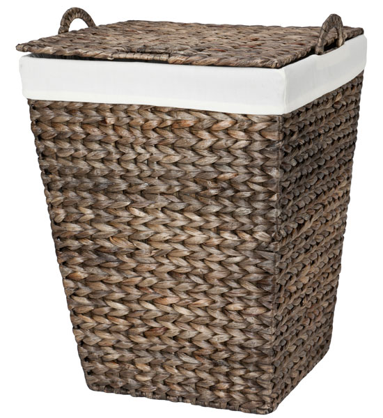 Woven laundry hamper water hyacinth in clothes hampers - Way laundry hamper ...