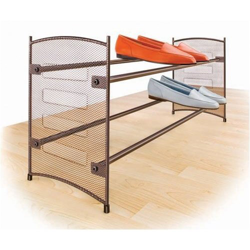 Stackable Expanding Shoe Rack - Bronze in Free Standing Shoe Racks