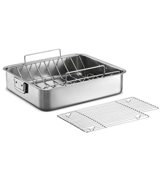 16 5 Inch Stainless Steel Deep Roasting Pan In Cookware