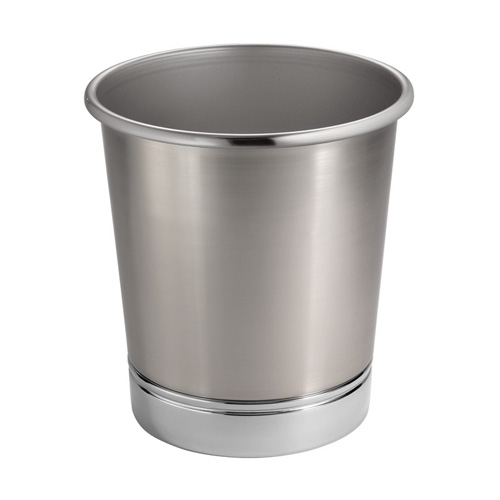 York metal bathroom waste basket in small trash cans for Bathroom garbage can