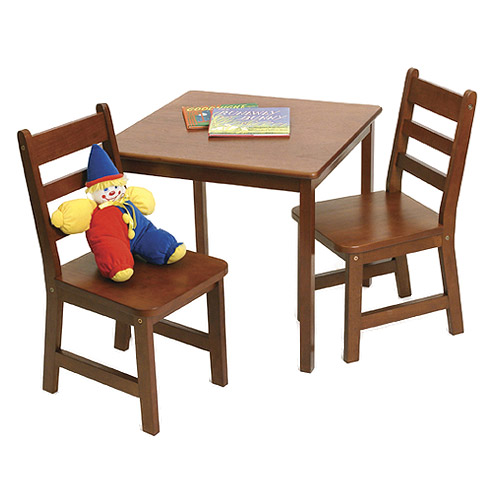 Childrens wooden table and chairs cherry in kids furniture for Bedroom table chairs