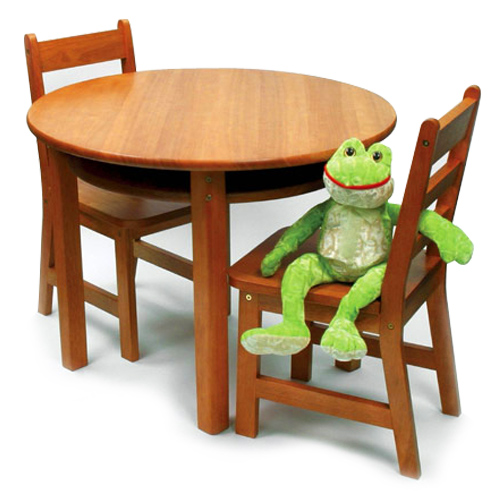 Childrens Table and Chairs Set Pecan in Kids Furniture