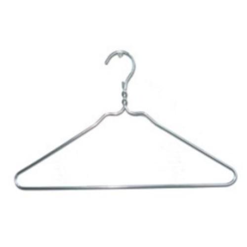20 Inch Aluminum Hanger Silver In Wire Hangers
