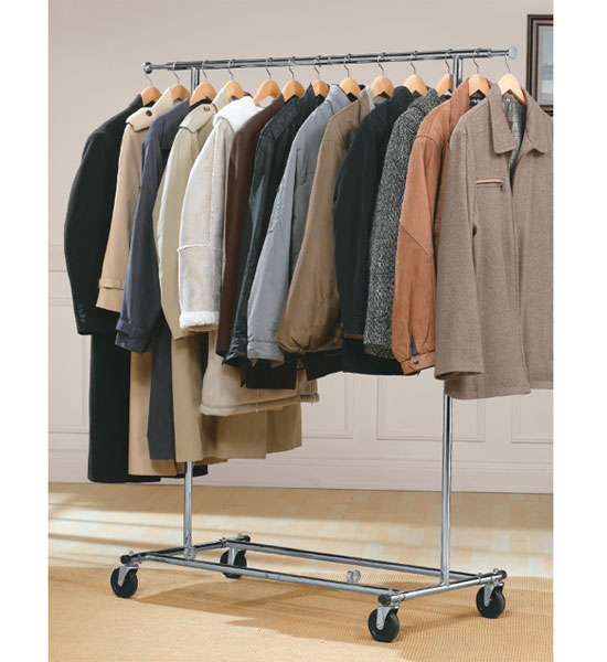 Commercial Chrome Garment Rack In Clothing Racks And Wardrobes